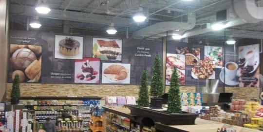 Store interior signage