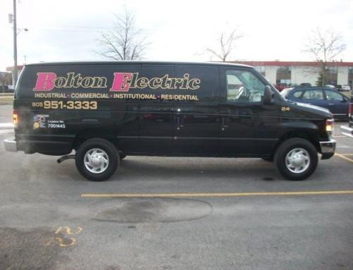 Bolton Electric black van