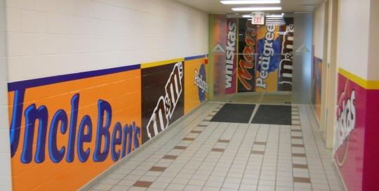 Interior walls signage