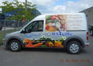 Hayville van decal 2