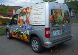 Hayville van decal 1