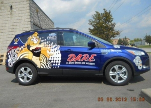dare car decal