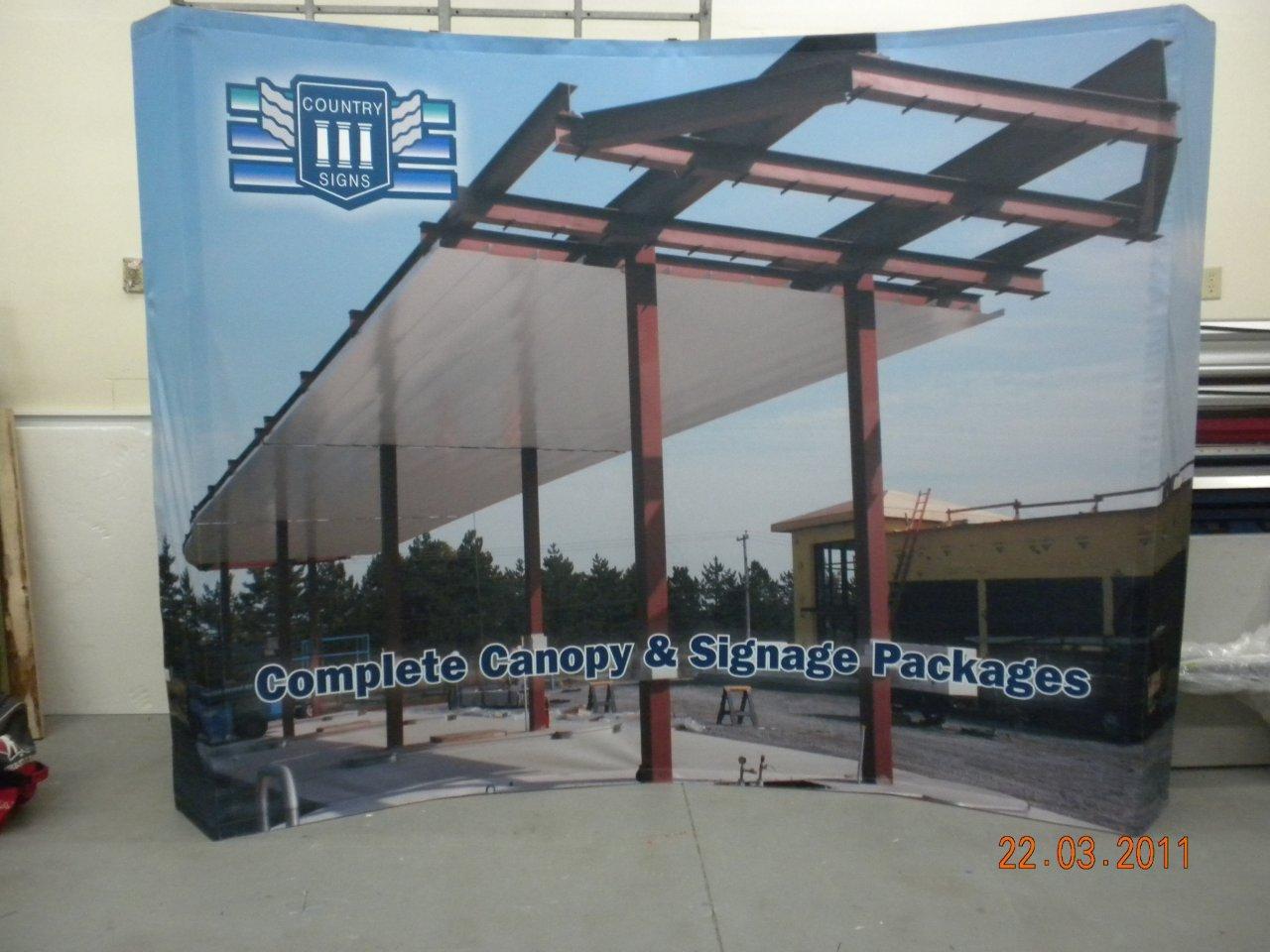 large indoor banner